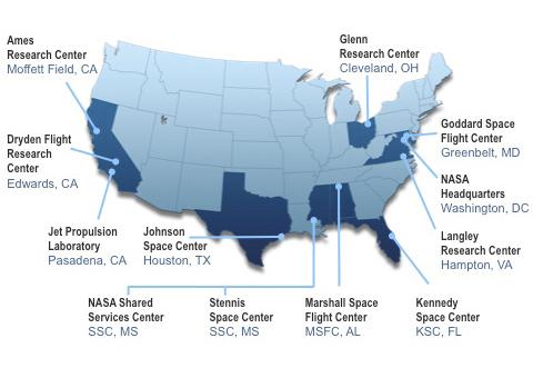 map of nasa space center in california - photo #45